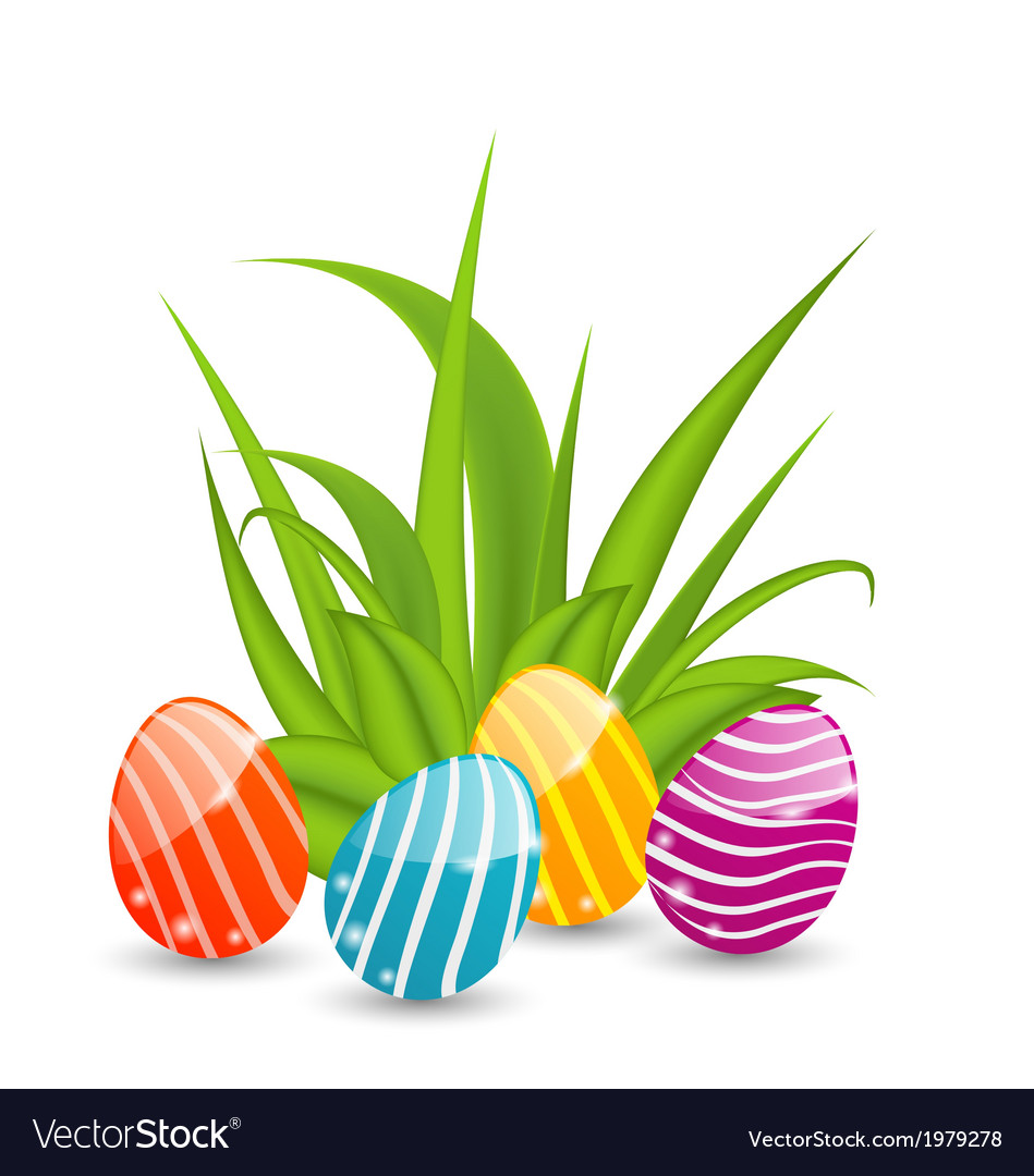 Easter background with traditional colorful eggs vector | Price: 1 Credit (USD $1)