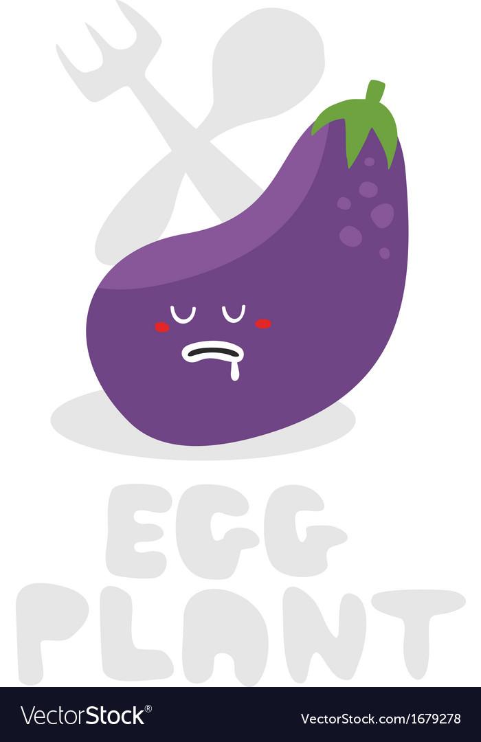 Eggplant monster vector | Price: 1 Credit (USD $1)