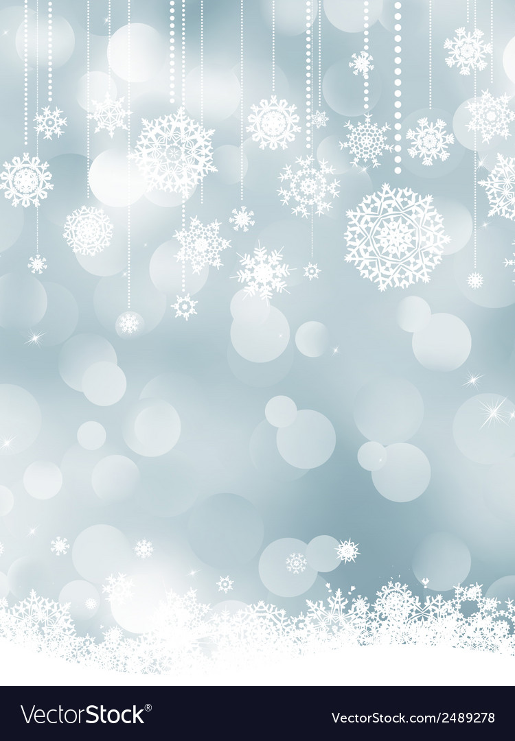 Elegant christmas silver snowflakes eps 8 vector | Price: 1 Credit (USD $1)