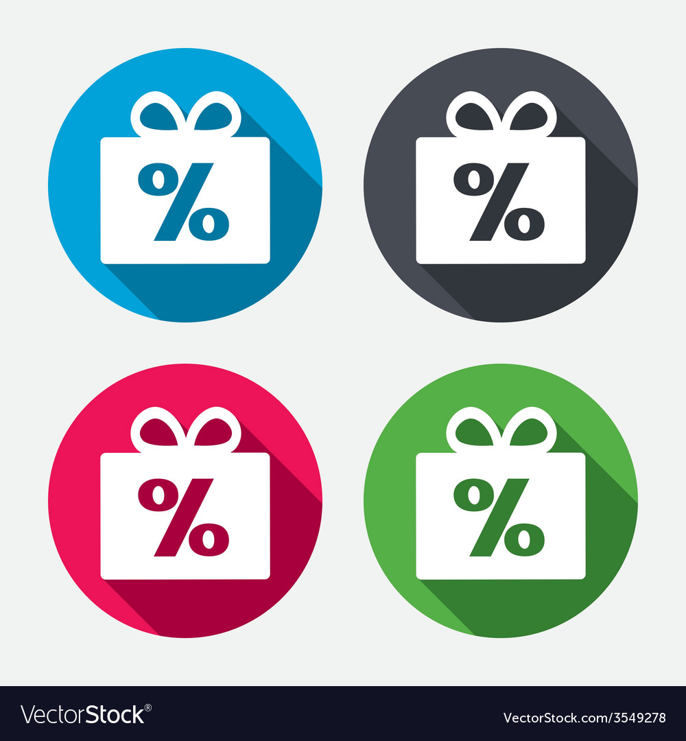 Gift box sign discount icon present symbol vector | Price: 1 Credit (USD $1)