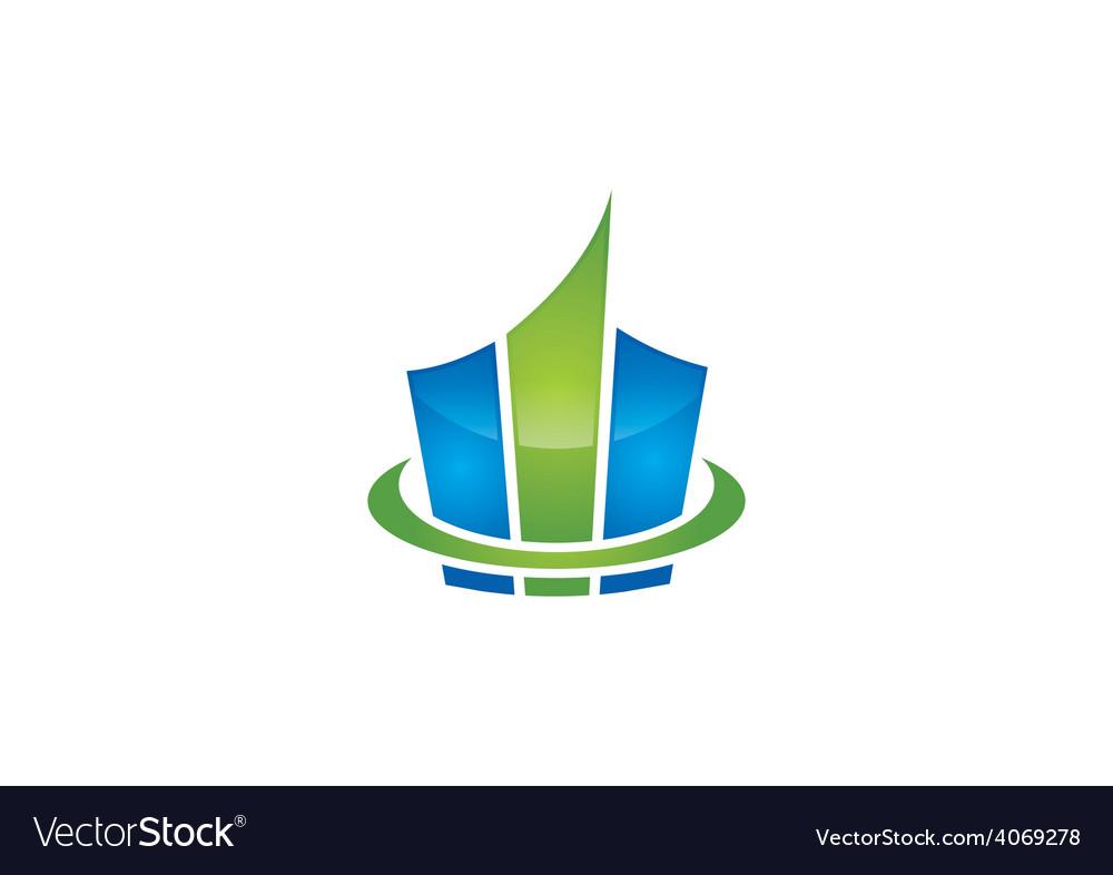 Graph finance bar construction logo vector | Price: 1 Credit (USD $1)