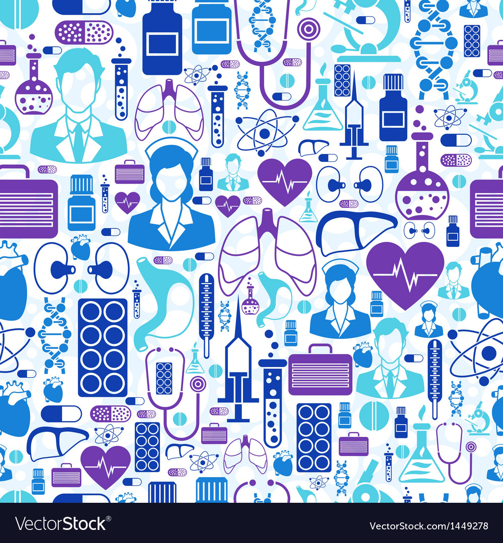 Medical and health care seamless pattern vector | Price: 1 Credit (USD $1)