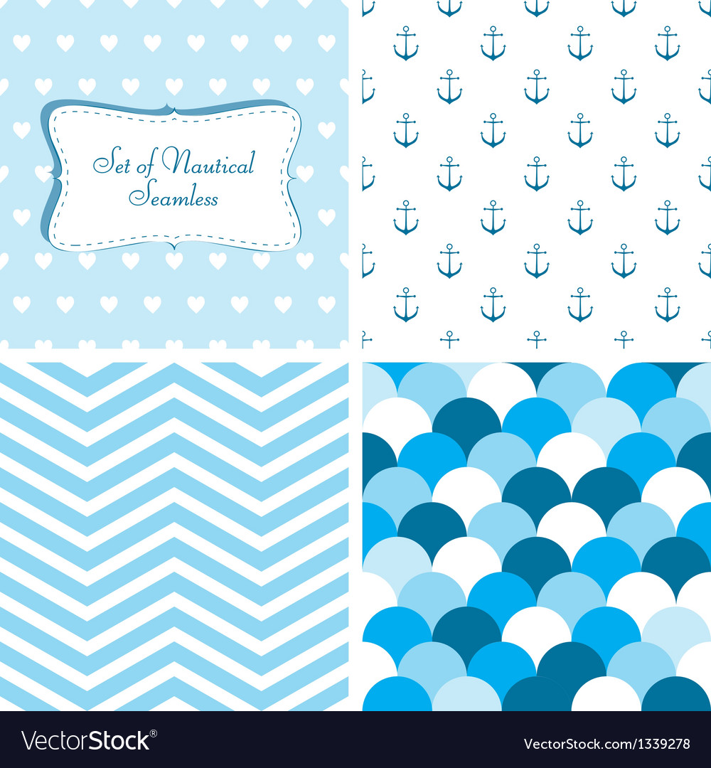 Nautical seamless vector | Price: 1 Credit (USD $1)