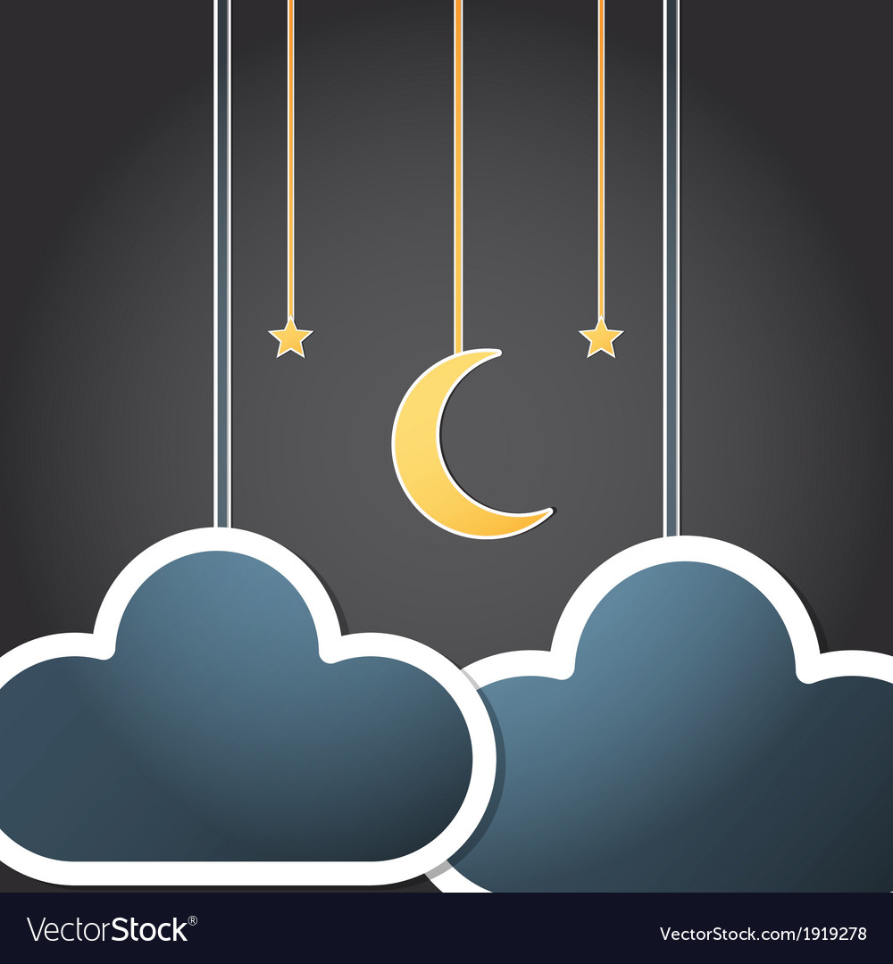 Paper night vector | Price: 1 Credit (USD $1)