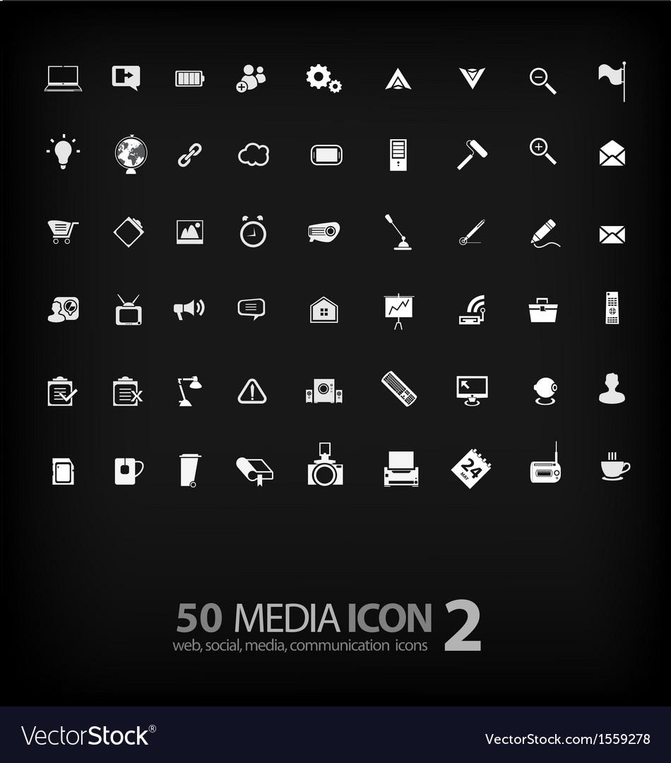 Set of office icon ofoffice mediamobile vector | Price: 1 Credit (USD $1)