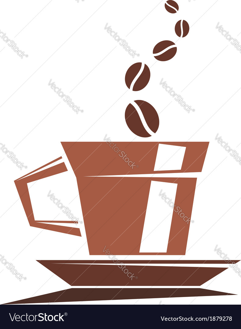 Strong cup of full roast coffee vector | Price: 1 Credit (USD $1)