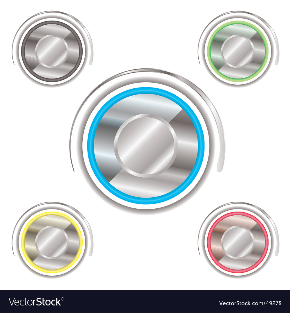 Variation power buttons vector | Price: 1 Credit (USD $1)