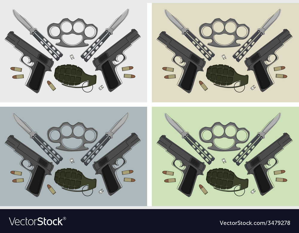 Weapon backgrounds vector | Price: 1 Credit (USD $1)