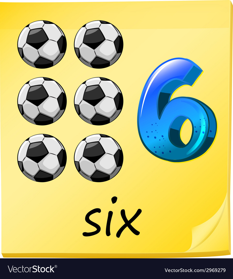 A number six vector | Price: 1 Credit (USD $1)