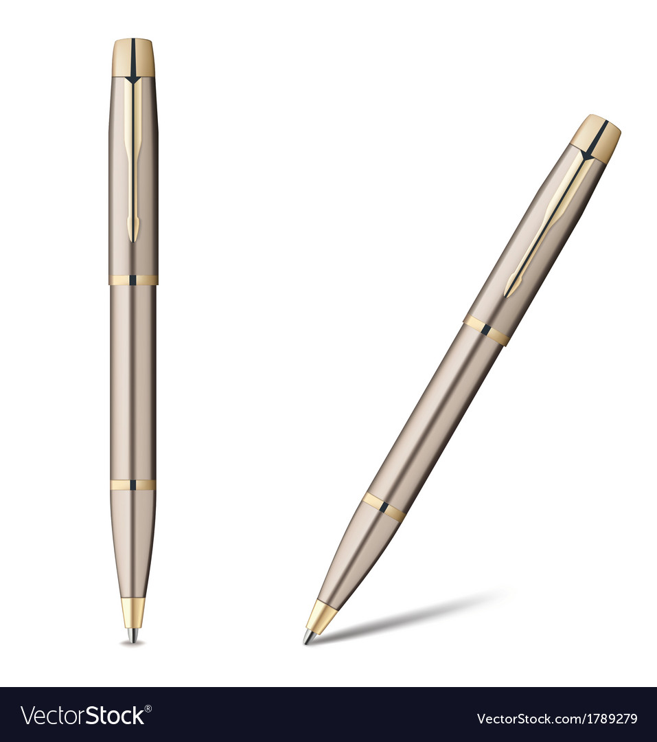 Ballpoint pen isolated on white vector | Price: 1 Credit (USD $1)