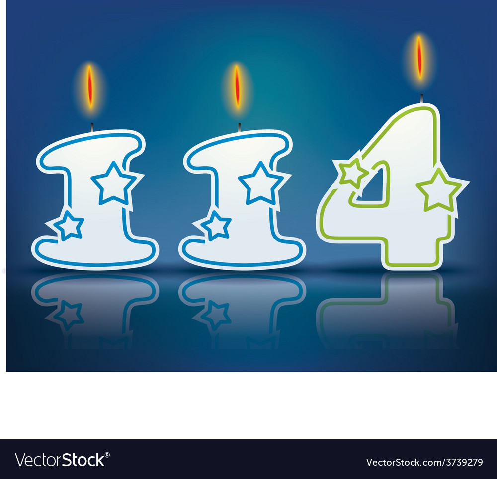 Birthday candle number 114 vector | Price: 1 Credit (USD $1)