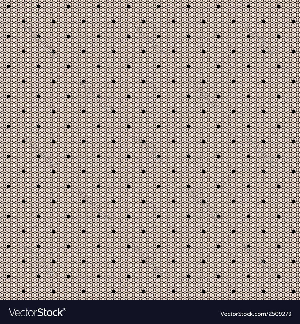 Black dot lacy seamless background vector | Price: 1 Credit (USD $1)
