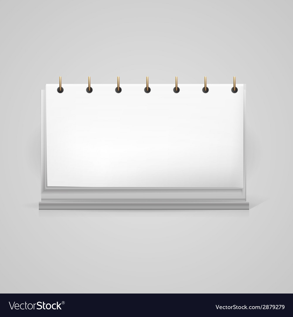 Blank desk calendar mock-up vector | Price: 1 Credit (USD $1)