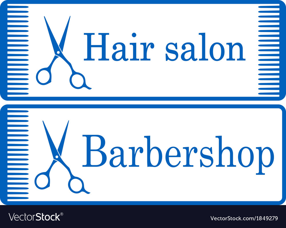 Blue barbershop signboard vector | Price: 1 Credit (USD $1)