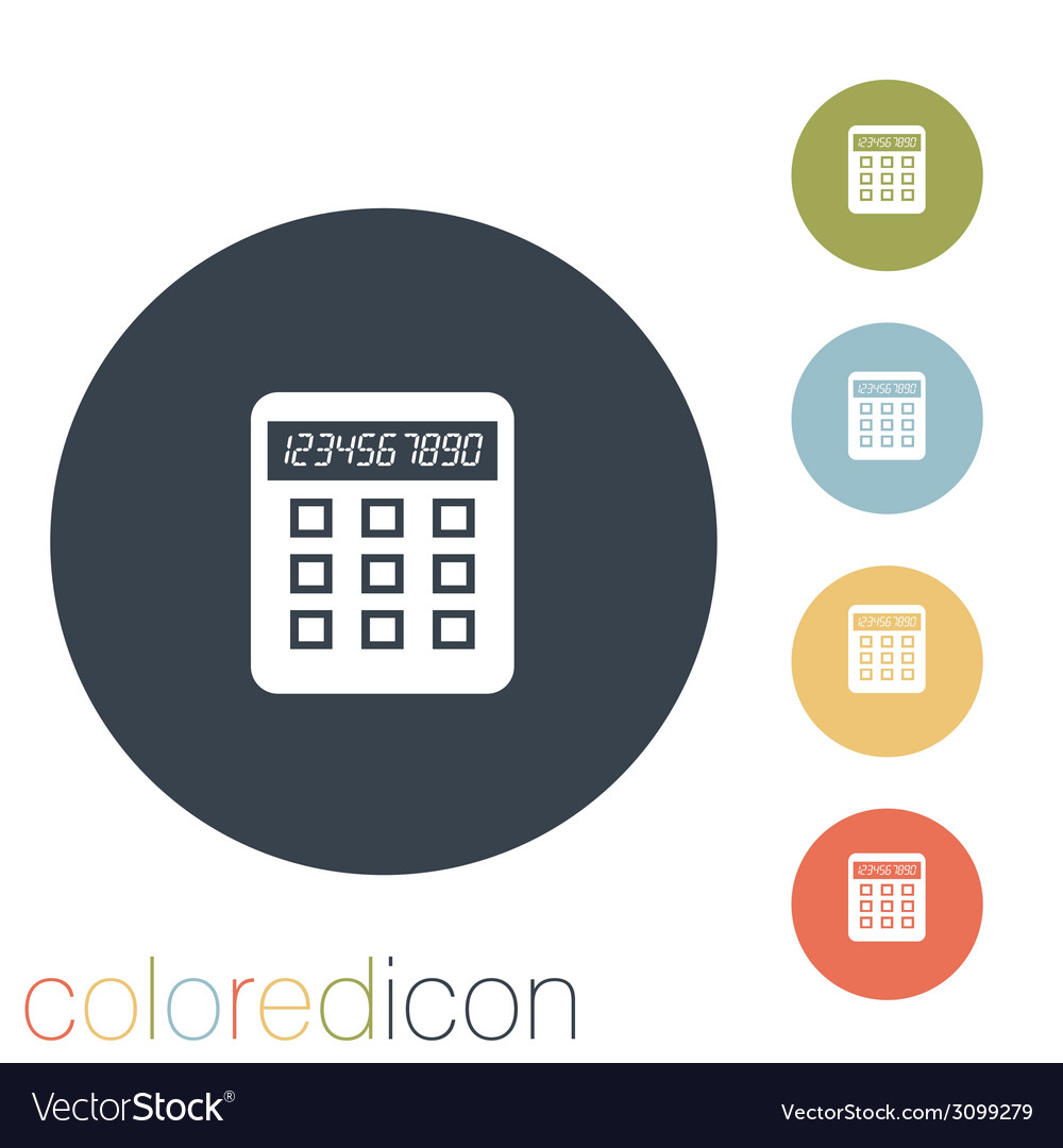 Calculator vector | Price: 1 Credit (USD $1)