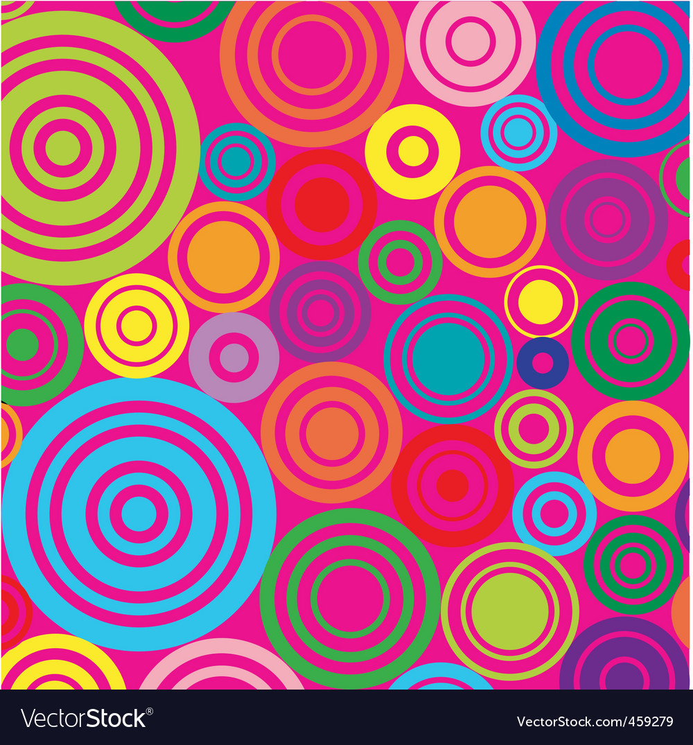 Circles on pink background vector | Price: 1 Credit (USD $1)