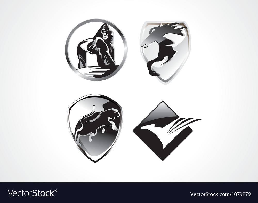 Cool amimal symbol vector | Price: 1 Credit (USD $1)