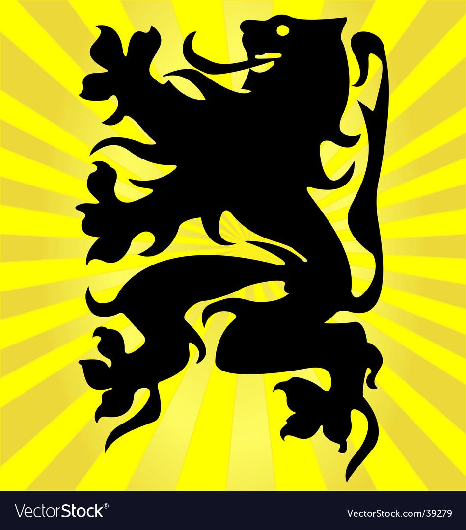 Flemish lion vector