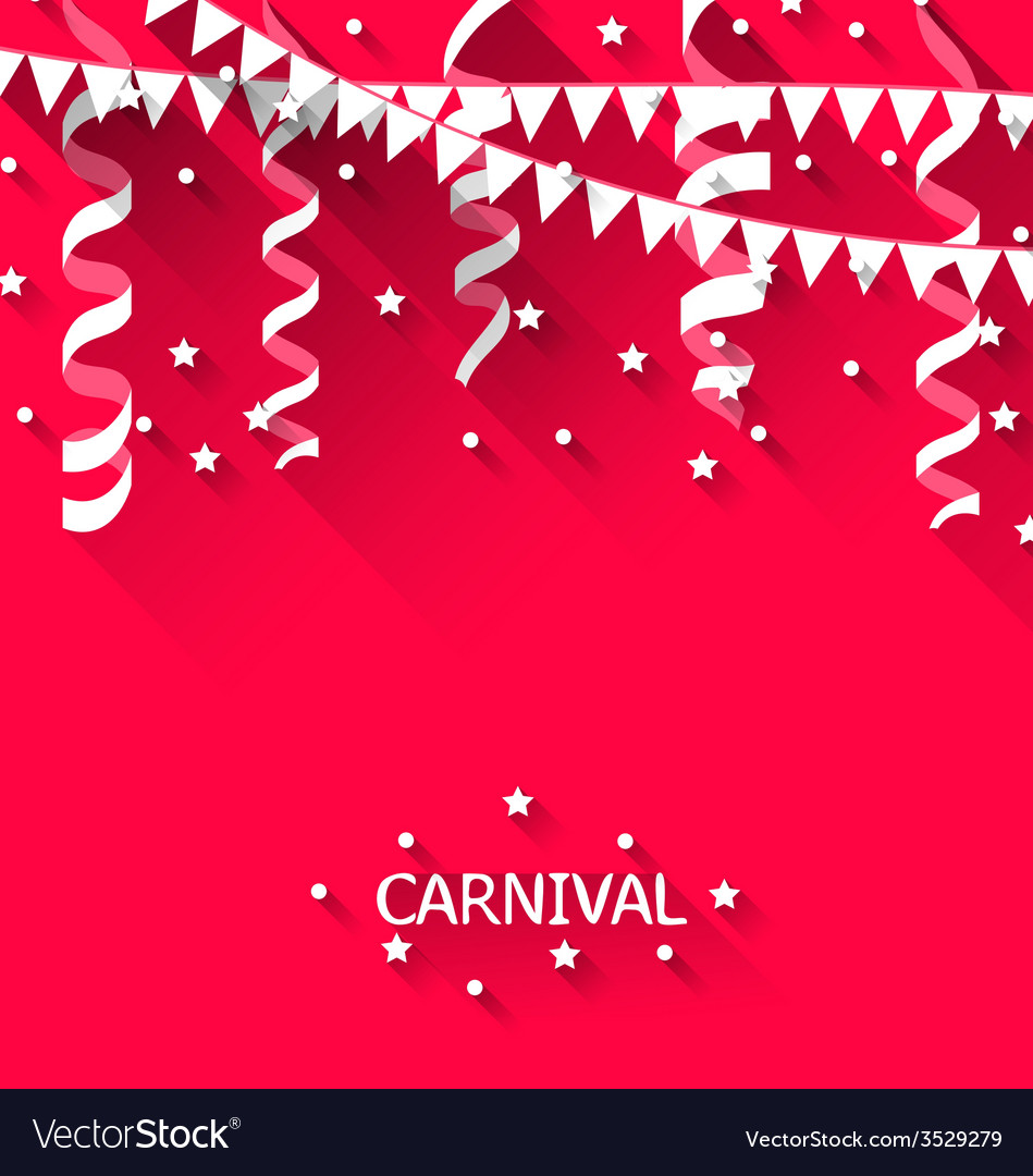 Holiday background with hanging pennants for vector | Price: 1 Credit (USD $1)