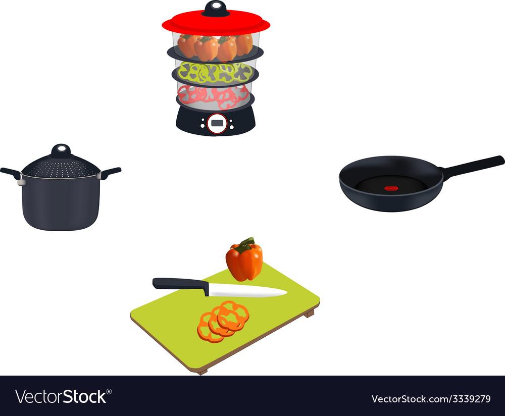 Kitchen set vector | Price: 1 Credit (USD $1)