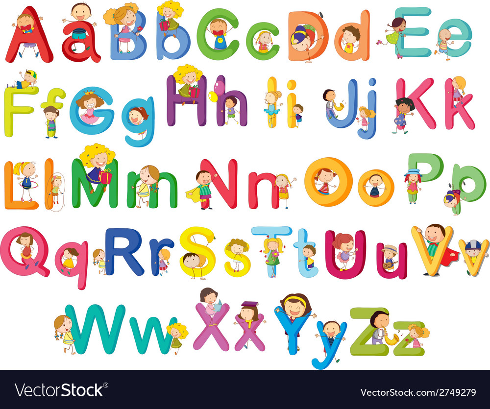 Letters of the alphabet vector   Price: 1 Credit (USD $1)
