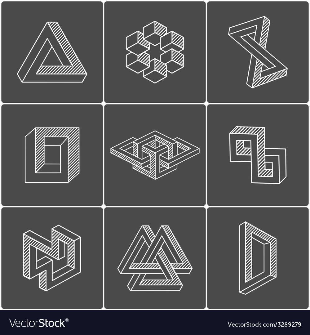Optical shapes elements vector | Price: 1 Credit (USD $1)