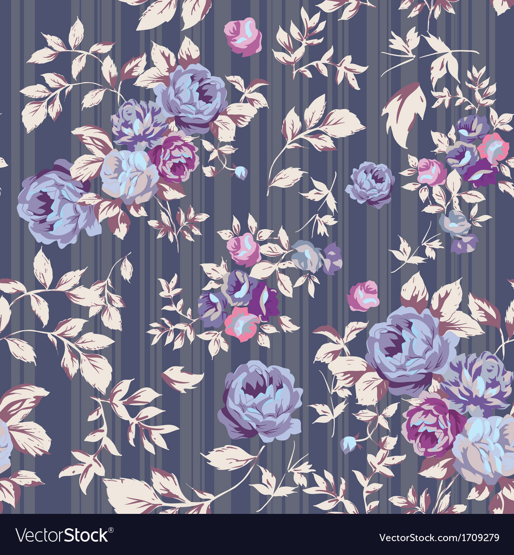 Rose seamless pattern gray vector | Price: 1 Credit (USD $1)