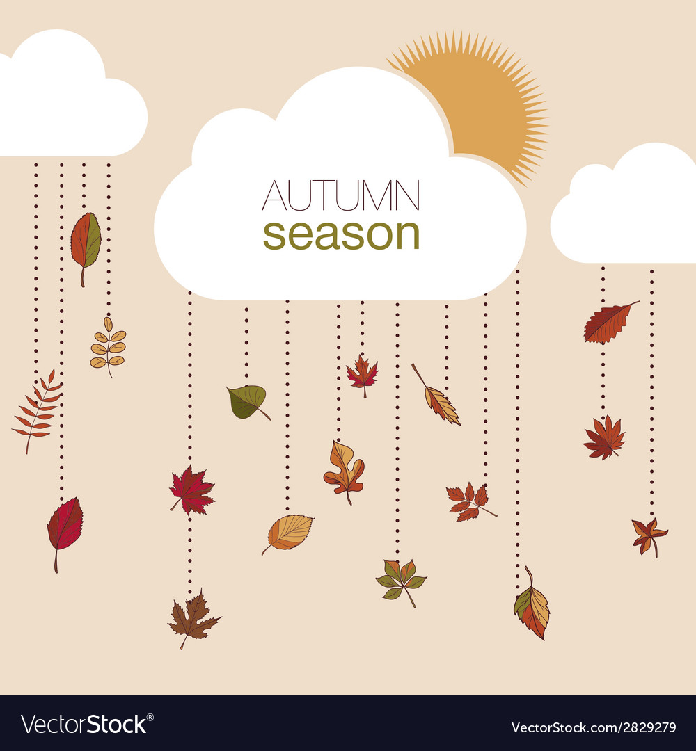 Set of autumn leaves for your design vector | Price: 1 Credit (USD $1)