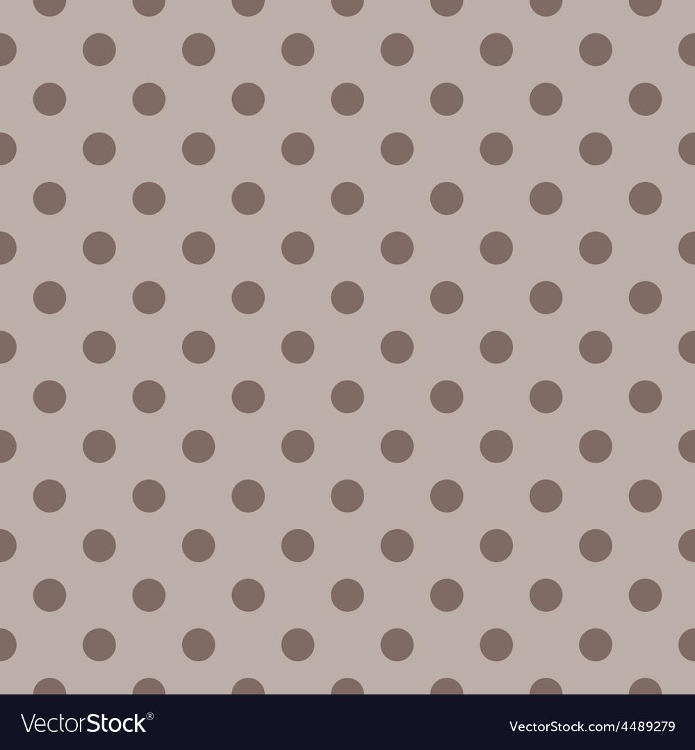 Tile pattern brown polka dots on dark background vector | Price: 1 Credit (USD $1)