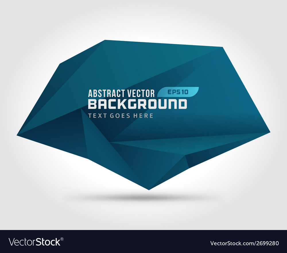 Abstract geometric 3d dark shape background vector | Price: 1 Credit (USD $1)
