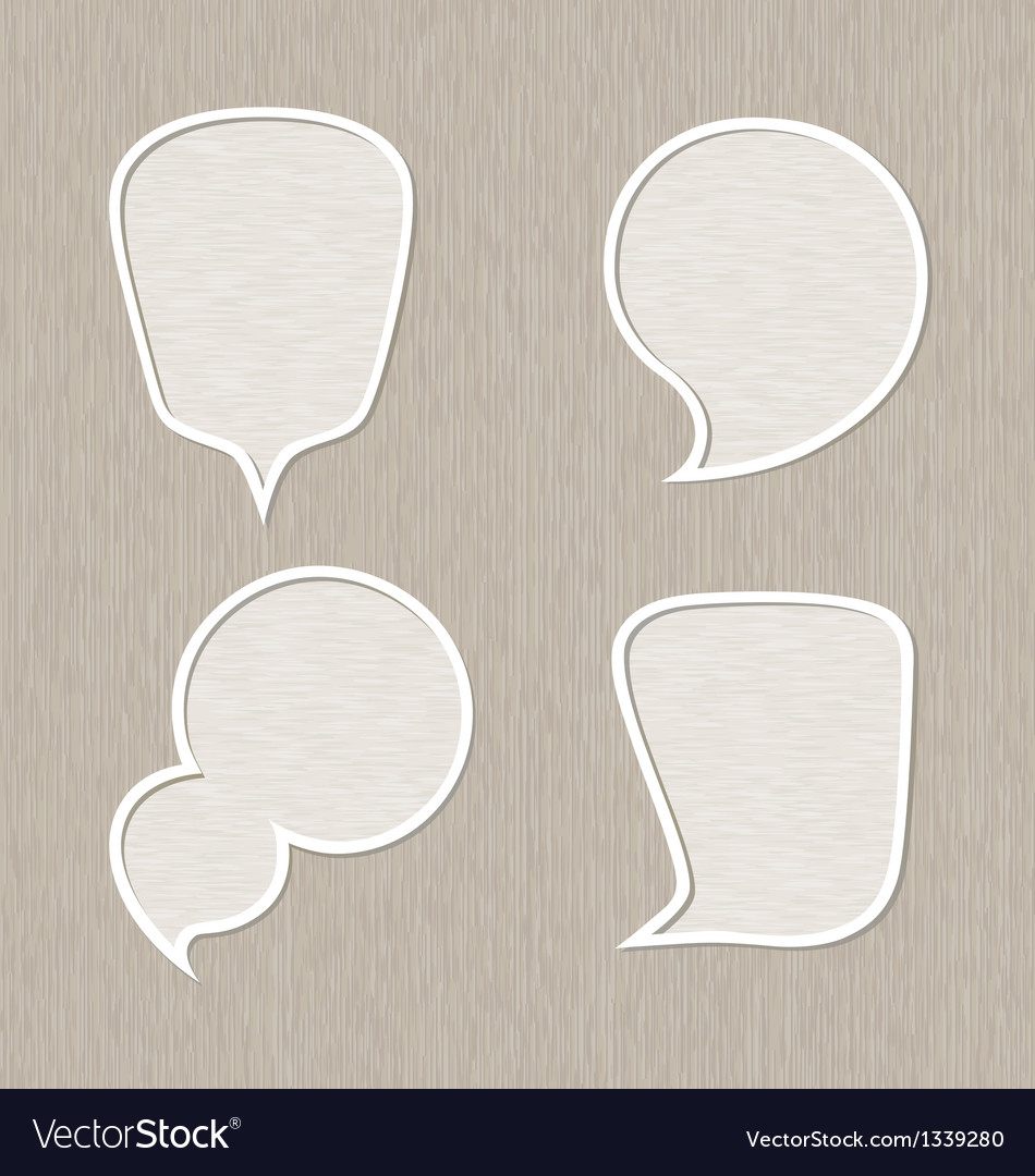Bubble for speech set wooden style vector | Price: 1 Credit (USD $1)