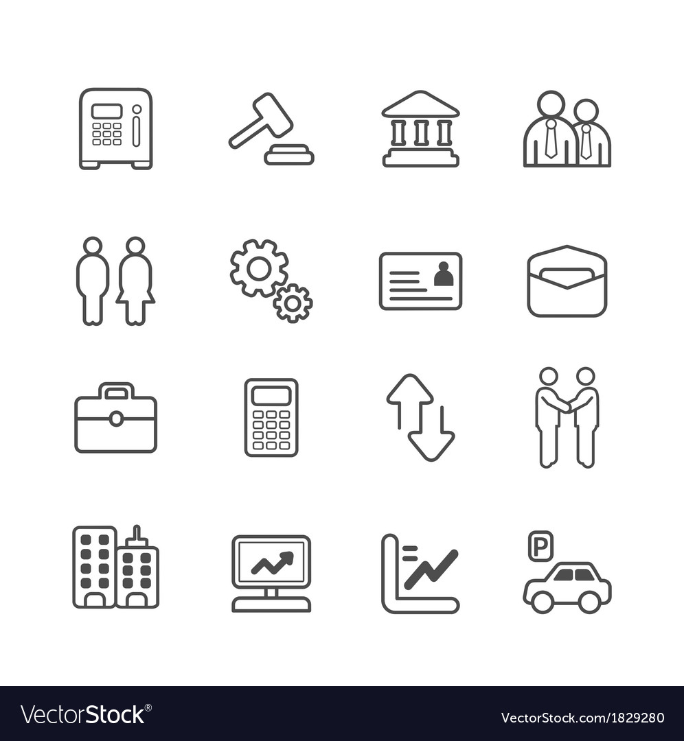 Business and finance line icons set vector | Price: 1 Credit (USD $1)