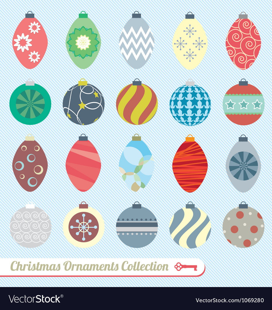 Christmas ornaments collection vector | Price: 1 Credit (USD $1)