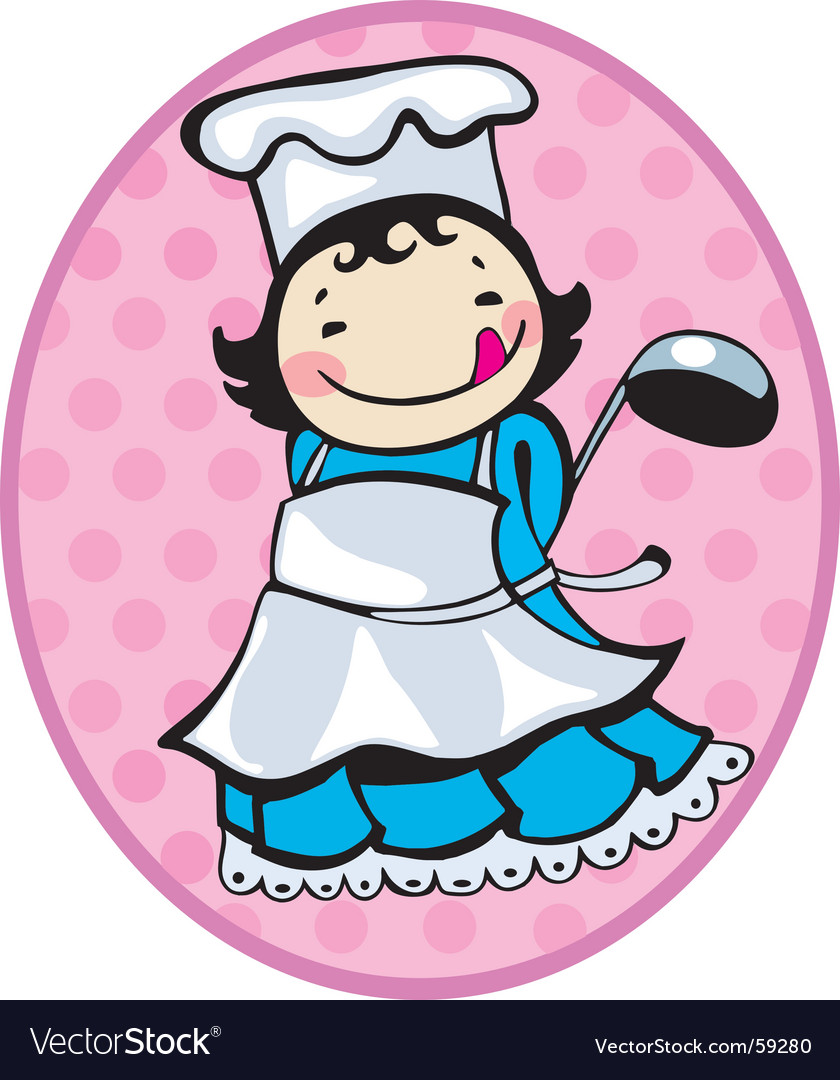 Cooker girl vector | Price: 1 Credit (USD $1)