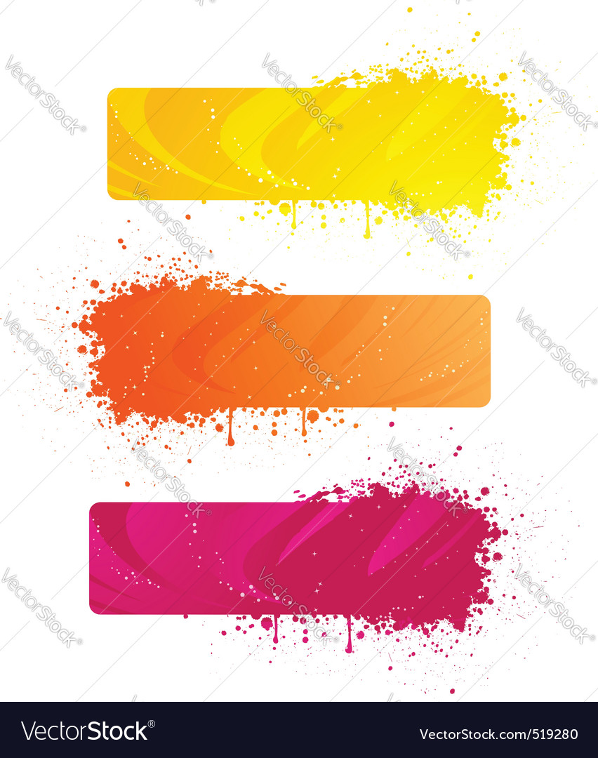 Grunge banners in bright colors vector | Price: 1 Credit (USD $1)