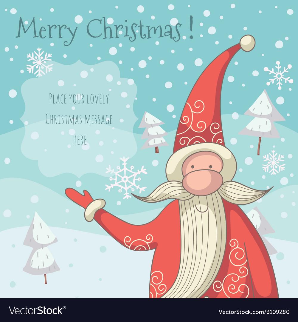 Santa clause greeting card vector | Price: 1 Credit (USD $1)