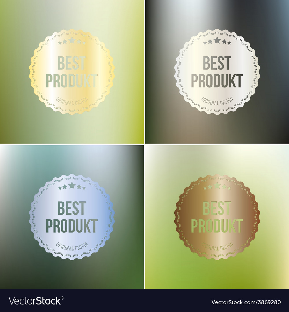 Set of best product labels isolated on blurred vector | Price: 1 Credit (USD $1)