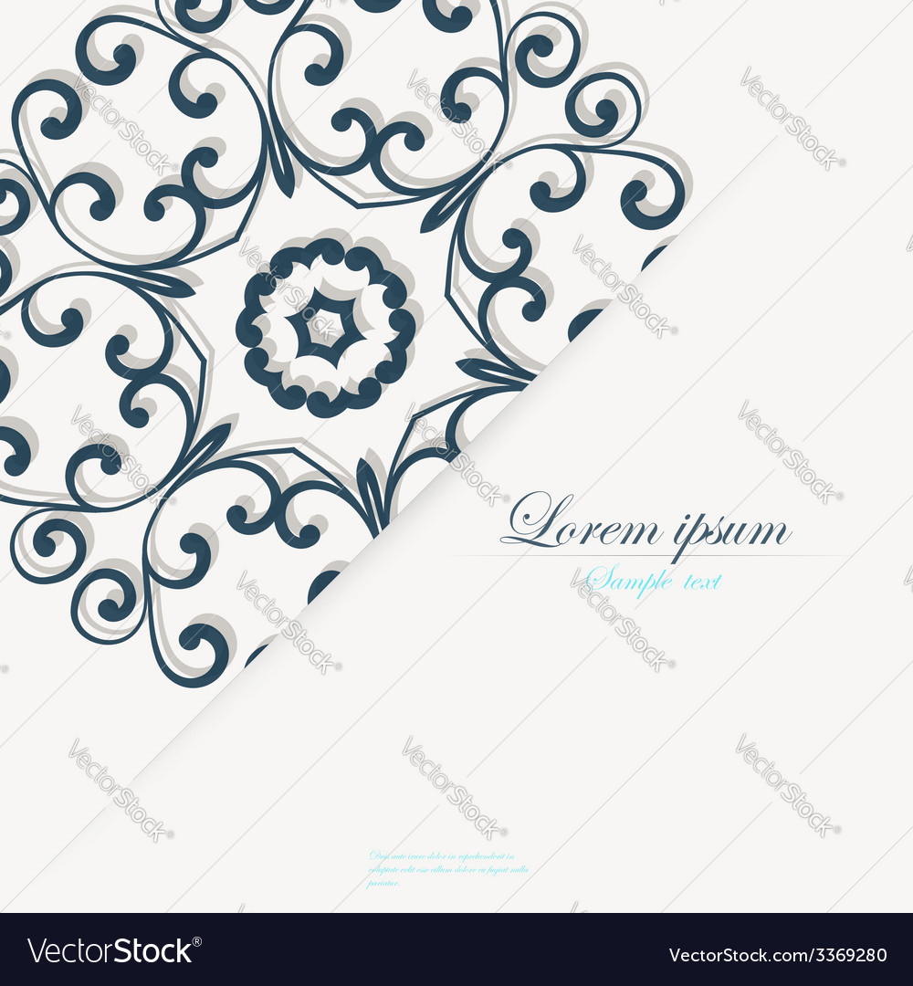 Template for folder business card and invitation vector | Price: 1 Credit (USD $1)