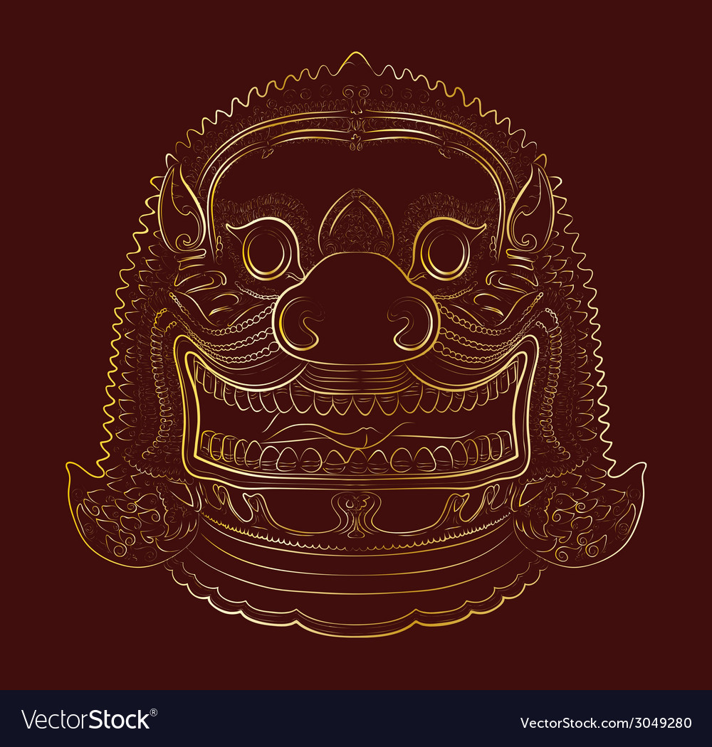 Thai demon - lion vector | Price: 1 Credit (USD $1)