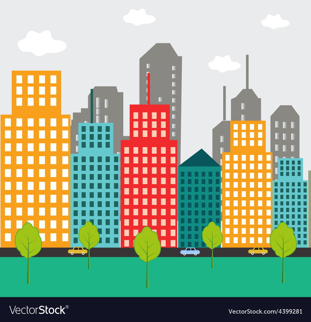 Abstract city background vector   Price: 3 Credit (USD $3)