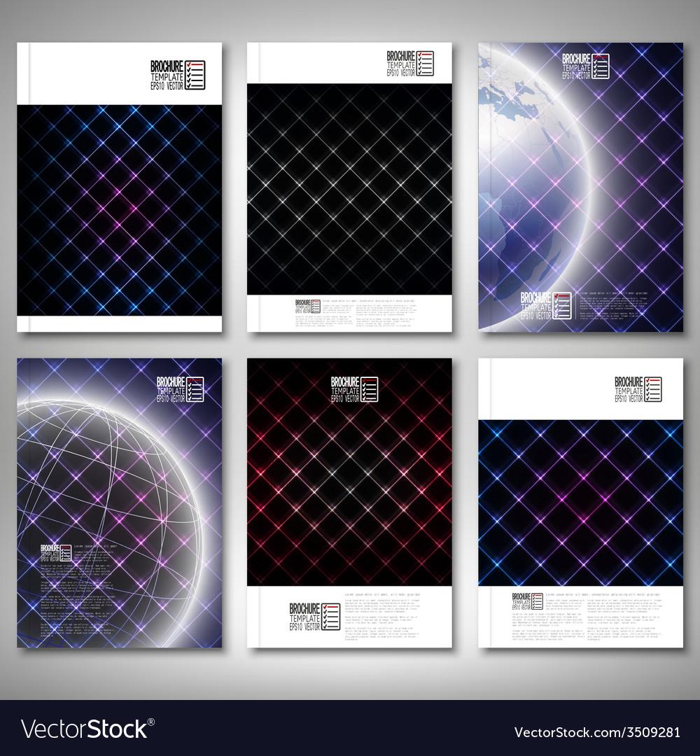 Abstract neon light black textures brochure flyer vector | Price: 1 Credit (USD $1)