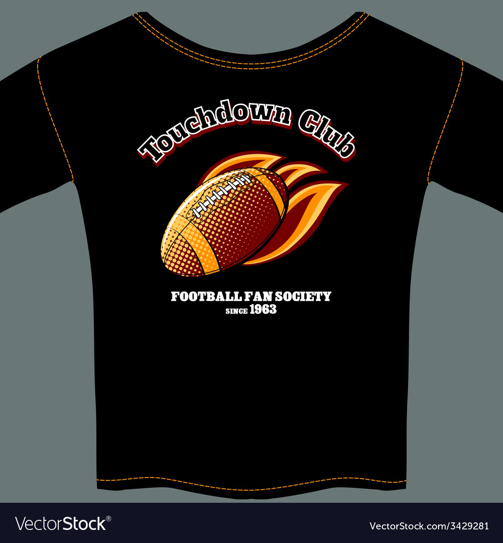 American football t-shirt template vector | Price: 1 Credit (USD $1)