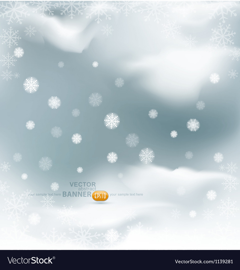 Background with flying snow flakes vector | Price: 1 Credit (USD $1)