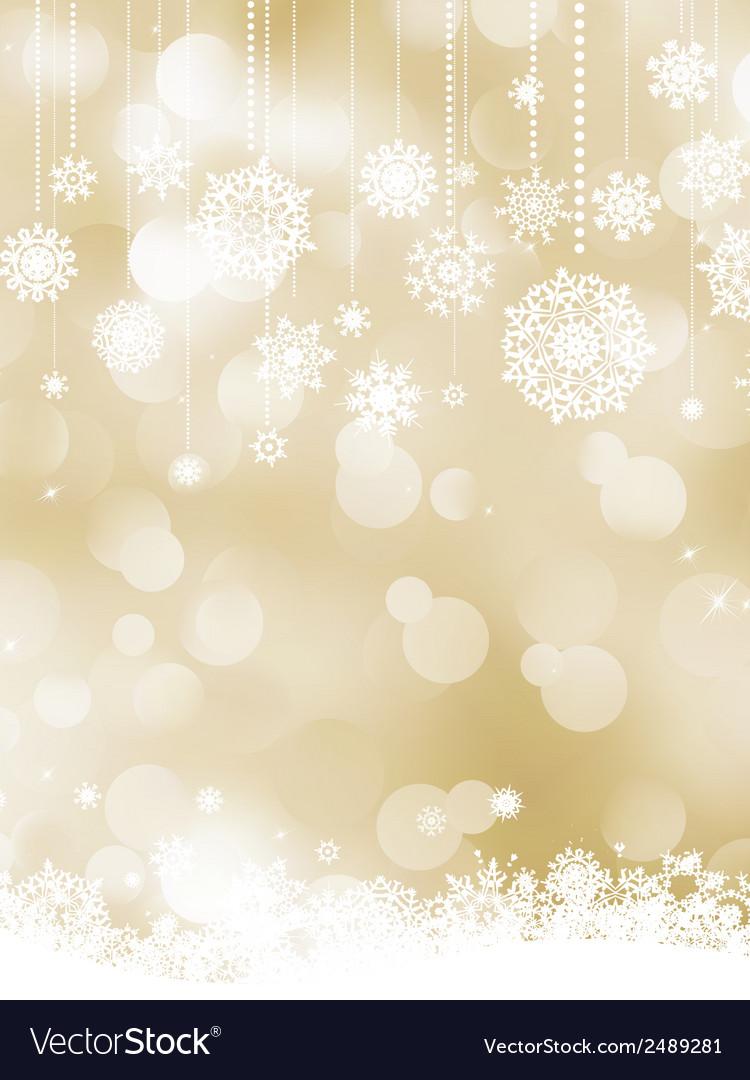 Elegant christmas bokeh snowflakes eps 8 vector | Price: 1 Credit (USD $1)