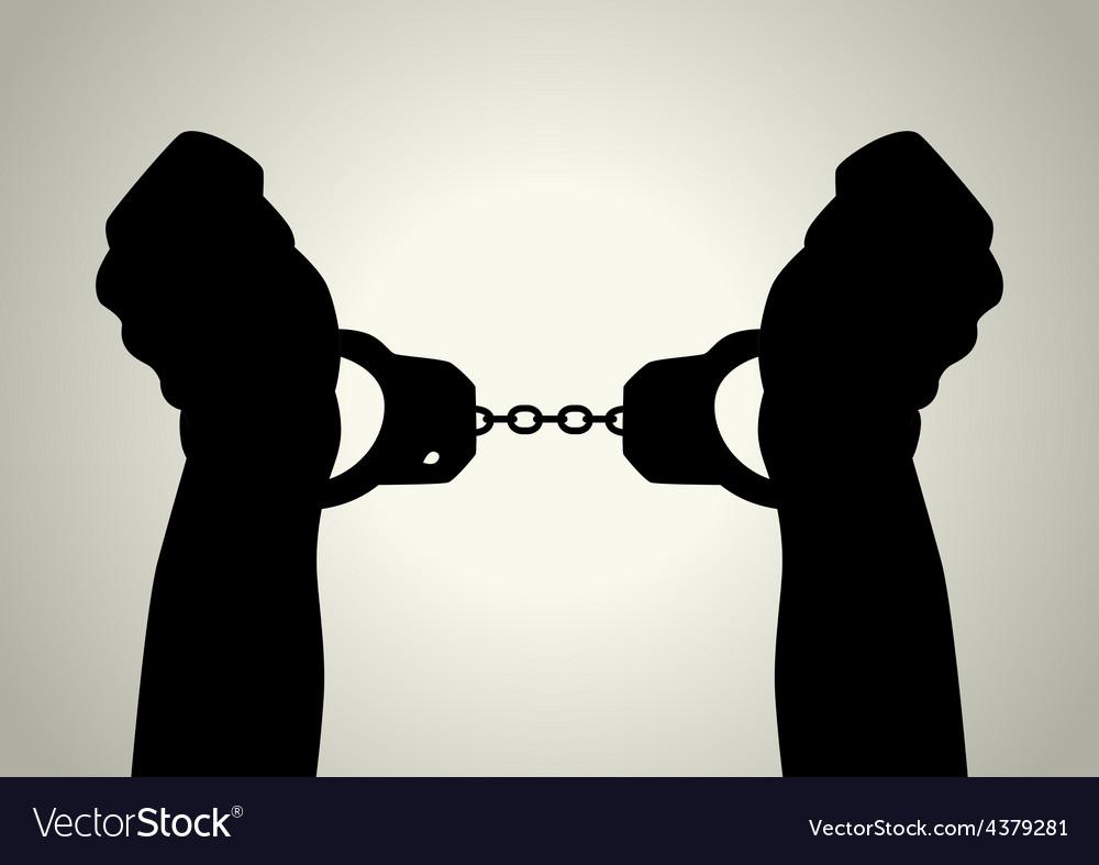 Handcuffed vector | Price: 1 Credit (USD $1)