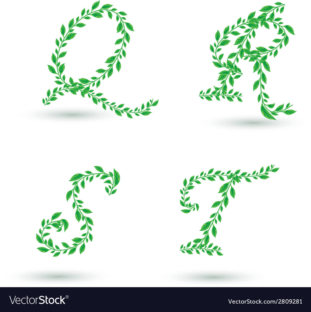 Leaf text q t vector | Price: 1 Credit (USD $1)