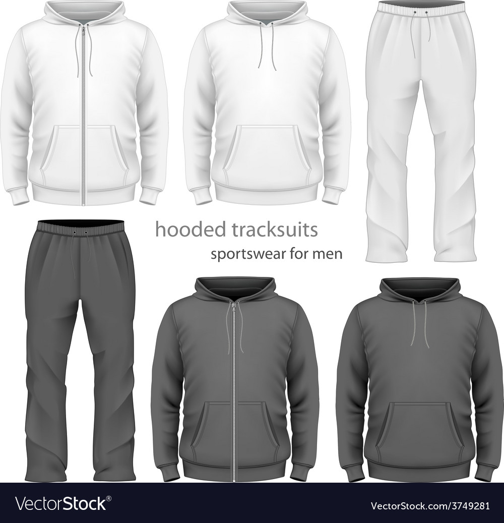 Men hooded tracksuit vector | Price: 3 Credit (USD $3)