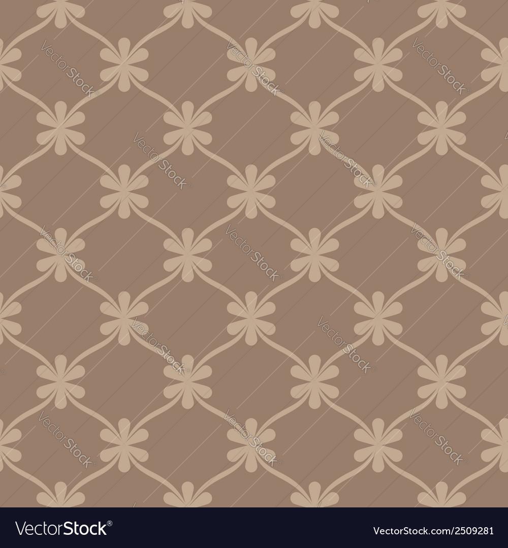 Seamless brown retro wallpaper background vector | Price: 1 Credit (USD $1)