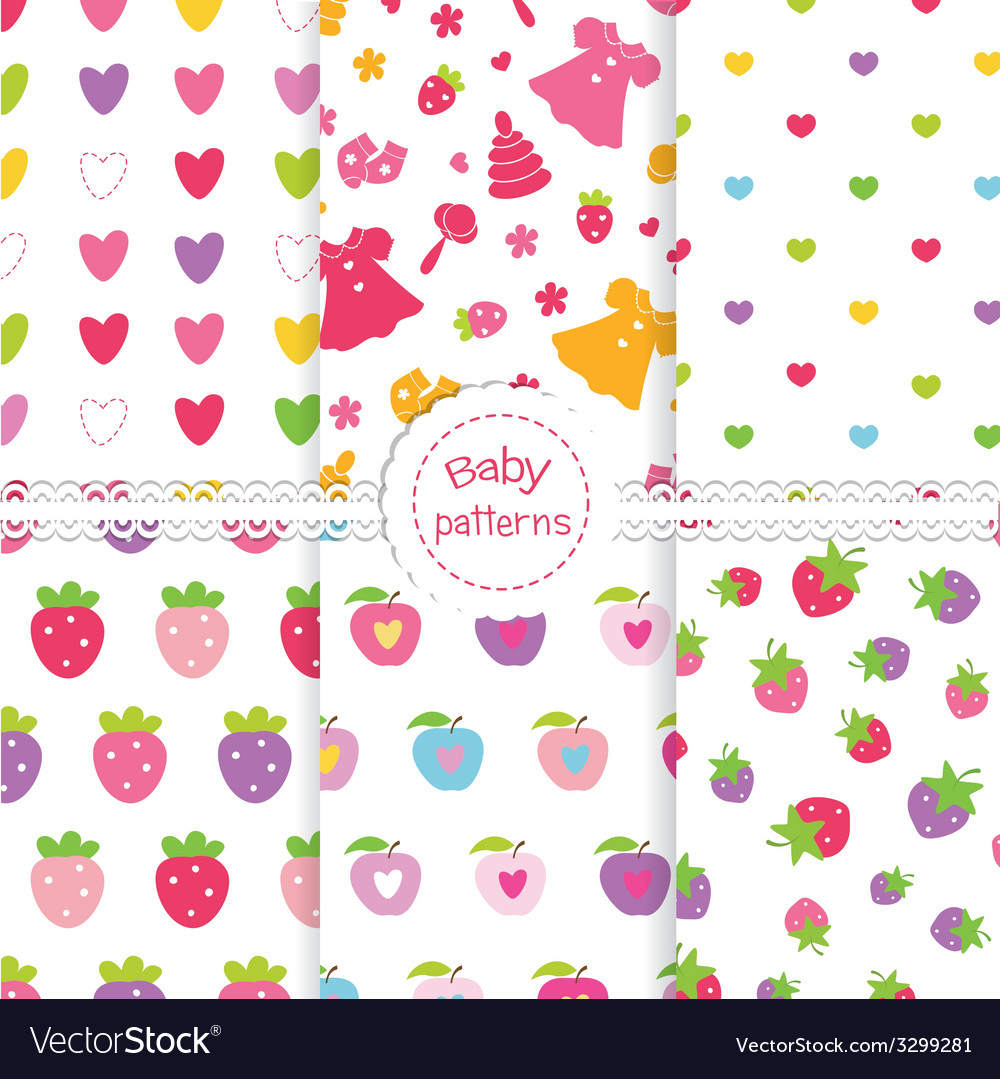 Set of baby patterns 2 vector | Price: 1 Credit (USD $1)