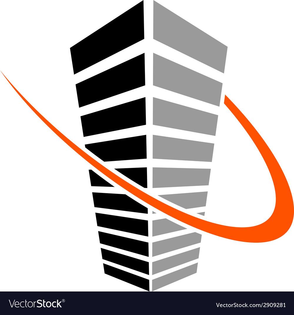 Skyscraper symbol vector | Price: 1 Credit (USD $1)